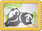 中国語教室学楽 切り絵作品展 パンダ