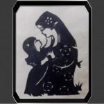 中国語教室学楽 切り絵 剪紙 母と娘