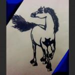 中国語教室学楽 切り絵 剪紙 駿馬